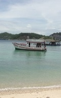 MV Sea Lotus anchored at Bat Island